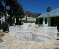 white mesh pool fence