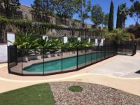 mesh pool safety fence in black color